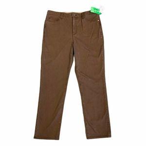Lands End Ecovera Straight Leg Pants Perfect Rise